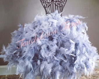 Gray feather tutu or customize your own