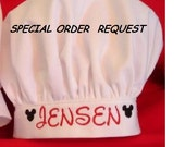 For a SPECIAL ORDER Chef Hat