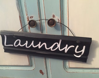 Laundry Sign - Laundry Door Sign - Black and White Laundry Sign - Housewarming Gift