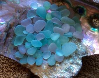 60 pale PASTEL Genuine Beach Sea Glass  PP-D16-B-63