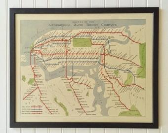 New York City Subway Map - 1924