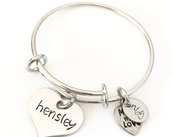 BABY Stainless Steel Bangle Charm Bracelet