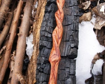 Unicorn horn styled Bubinga wand - hand carved original wand
