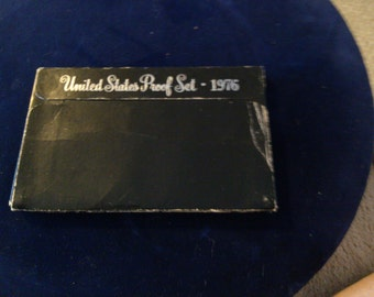 1975 United States Proof Set, Paper Case and Plastic Stand Up Display Case