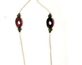 Tribal Wooden Chain Necklace
