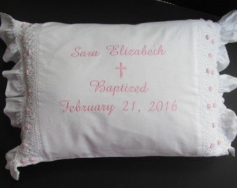 Christening Pillow, Baptism Pillow.
