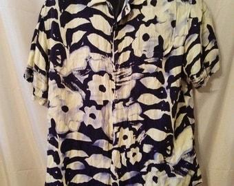 "90s Vintage Mans Aloha Resort Beach Collectors Shirt-50"" Chest-xL-Jams World-Cruise Club Casual"