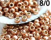 TOHO Seed beads, size 8/0, Permanent Finish Galvanized Rose Gold, PF551, japanese - 10g - S863