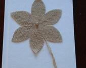 Burlap flower memory  book weddings 6 X 8  Donna Su Domichcreations etsy