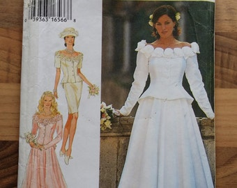 Vintage Style bridal sewing pattern 2602 in sizes 8 to 18. Uncut