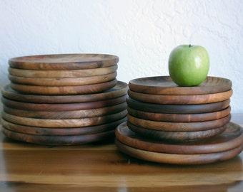Vintage Myrtlewood Wooden Plates - Sold Separately - Multiple Sizes Dinner Plates