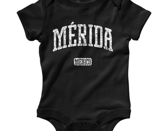 Baby One Piece - Merida Mexico - Infant Romper - NB 6m 12m 18m 24m - Baby Shower Gift, Merida Baby, Yucateco, Yucatan Baby, Meridano Baby