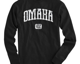 LS Omaha 402 Nebraska Tee - Long Sleeve T-shirt - Men and Kids - S M L XL 2x 3x 4x - Omaha Nebraska Shirt - 4 Colors