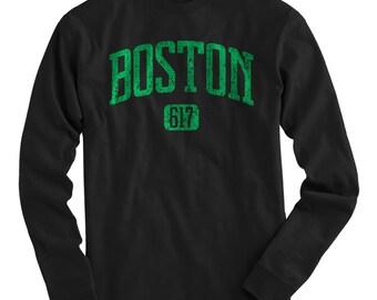 LS Boston 617 Tee - Long Sleeve T-shirt - Men and Kids - S M L XL 2x 3x 4x - Boston Shirt - 4 Colors