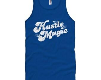 Hustle Magic Script Tank Top - Unisex - XS S M L XL 2x - Men and Women - Shirt, Inspiration, Motivation, Retro, 70s - 3 Colors