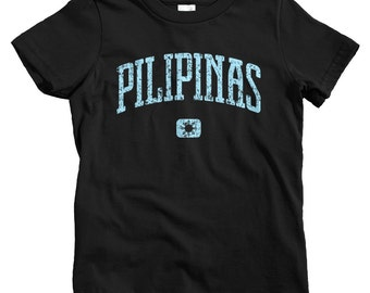 Kids Pilipinas T-shirt - Baby, Toddler, and Youth Sizes - Philippines Tee, Filipino, Manila, Quezon City, Cebu, Gift - 4 Colors