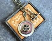 Antique Button Pendant, A...