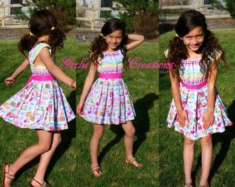 SHOPKINS Dress, Girls Dress, Shopkins, Matilda Dress, Peasant Dress, Flutter Sleeve -  2T - 8