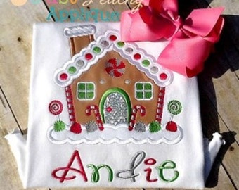 Kristi Gingerbread House Machine Embroidery Applique Design Buy 2 for 4! Use Coupon Code 50OFF