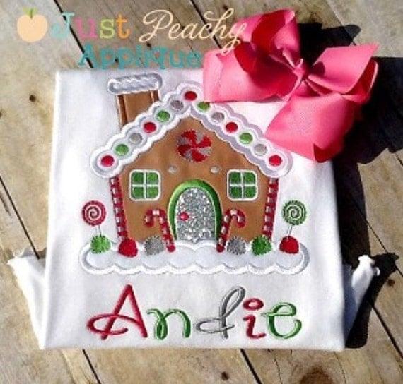 Kristi Gingerbread House Machine Embroidery Applique Design