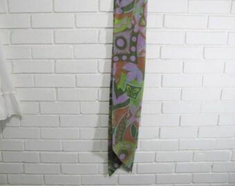 Vintage XL 1960s 1970s Psycheldelic scarf