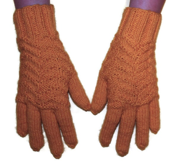 Yellow knitted gloves - women gloves, knit gloves, mitten gloves, black gloves, fingered gloves, winter gloves, warm glove, woolen gloves
