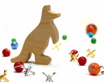 Kangaroo Toy, Noahs Ark Animal, Australian Animal Toy, Wooden Animal Toy, Wood Toy for Girls, Toy for Boys, Kids Room Decor