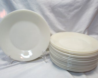 "Fire King 1700 Line Ivory 9"" Dinner Plate"