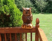 Chainsaw Carving Chainsaw Carved Great Horned Owl