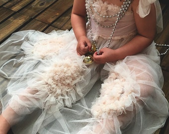 Flower Girl Dress Handmade party dress soft tulle Princess Fairy dress tutu Any Color