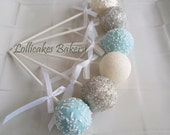 Baby Shower Favors: Baby Shower Cake Pops Made to Order, Baby Shower Dessert Table, Baby Shower Candy Buffet, 1 dozen