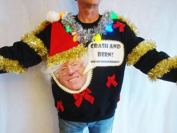 Bernie Sanders Ugly Christmas Sweater Contest Winner Political