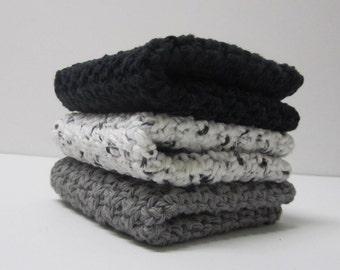 Cotton Crochet Washcloths Dishcloths - Ready to Ship