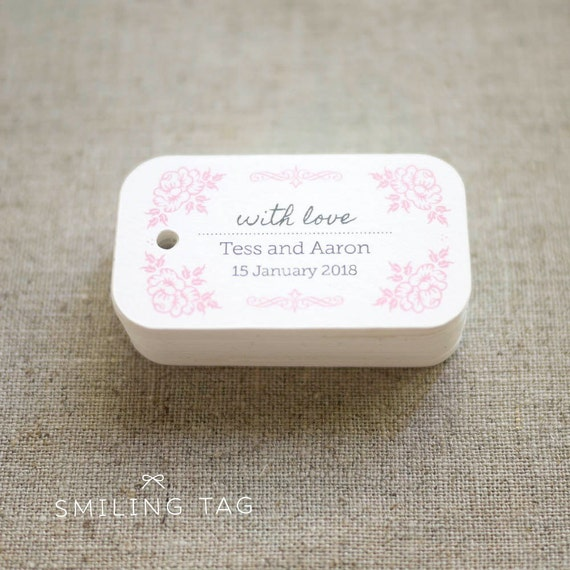 Wedding Gift Tags Ideas : Vintage Inspired Wedding Favor Tags - Personalized Gift Tags - Bridal ...