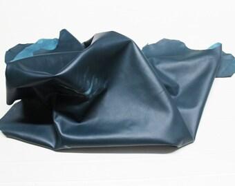 Italian Lambskin leather hide hides skin skins TEAL 8sqf #A103