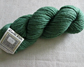 Green Superwash Wool Yarn - Stonington Bulky Cabled Wool Yarn by Classic Elite - Bulky Weight Wool Yarn - Category 5 - Discontinued Yarn