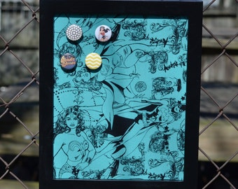 """Small Magnetic Photo Frame or Bulletin Board 9""""x11"""""""