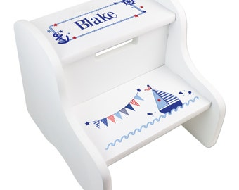 Childs Stool With Name Puzzle
