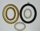 Reserved for M..Vintage Lot of Oval Frames / 5 Oval Frames / Old World Frames