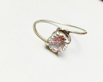CZ Mid Finger Ring Size 8.5, Stackable, Pinky, Round Stone, Pre Holiday S A L E, Item No. S320