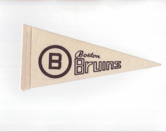 Boston Bruins Vintage Hockey Pennant 4 x 8 Inch Mini Pennant Flag 1969 Ice Hockey Felt Mini Pennant Sports Gift Stocking Stuffer vtg