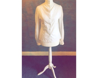Gorgeous LAURA ASHLEY White Shirt With Button Detail And Cuffed Sleeves