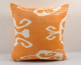 Ikat Pillow, Hand Woven Ikat Pillow Cover npi215-10, Ikat throw pillows, Designer pillows, Decorative pillows, Accent pillows