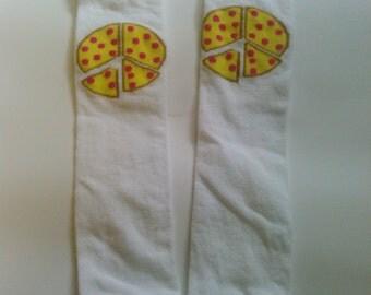 Peace Pizza Leg Warmers