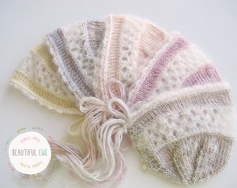 Knitting Pattern - Evelyn Bonnet - Newborn Photography Prop