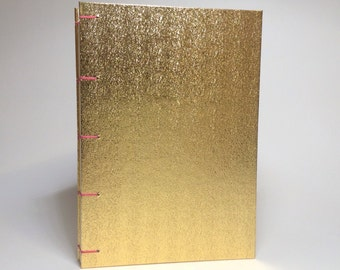 Metallic Gold Journal - Lined Pages