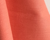 Organic Solid Fabric in Salmon from the Cirrus Solids Collection from Cloud9 Fabrics. - ONE FAT QUARTER Cut