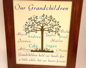 Family Tree picture frame - Custom Made Gifts - Holiday gift- Family Trees - Gifts for her - Picture Frames