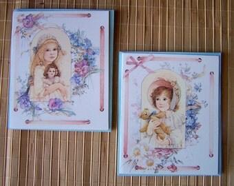 "Vintage 80's  of  ""JAN HAGARA""  Note Cards  Romantic Americana Look"