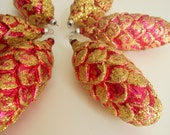 Vintage Unbreakable Italian Pinecone Christmas Ornaments